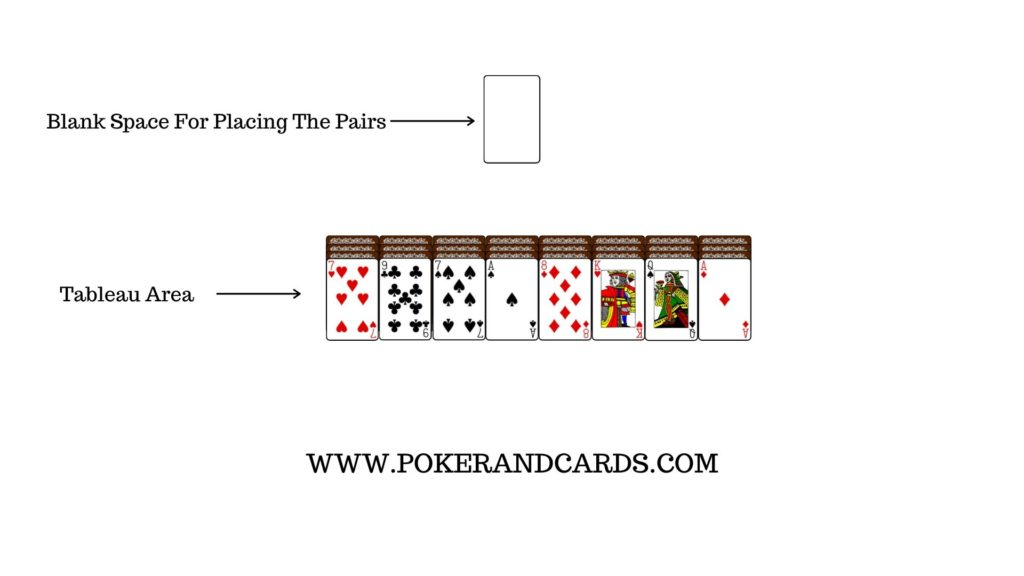 Set-up of Wish Solitaire (How to Play Wish Solitaire)